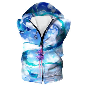 Spirited Away Hooded Tank - Spirited Away Dragon Anime Clothing
