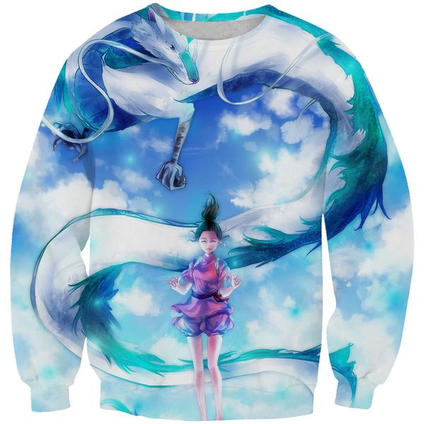 Spirited Away Sweatshirt - Spirited Away Dragon Anime Clothing