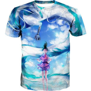 Spirited Away T-Shirt - Spirited Away Dragon Anime Clothing