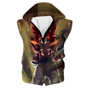 Super Saiayn 4 Gogeta Hooded Tank - Dragon Ball GT Clothes - Hoodie Now