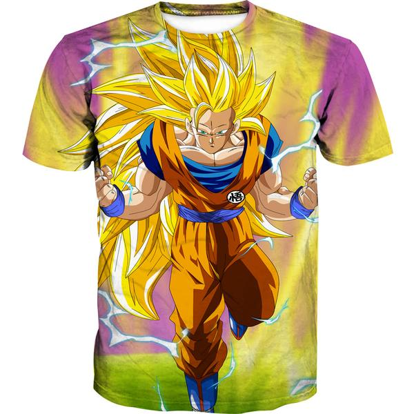 Super Saiyan 3 Goku T-Shirt - Dragon Ball Z Shirts
