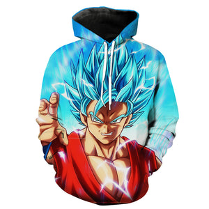 Super Saiyan Blue Goku Hoodie - Dragon Ball Super Clothing - Hoodie Now