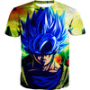 Super Saiyan Blue Goku T-Shirt - Goku Face Dragon Ball Super Clothes