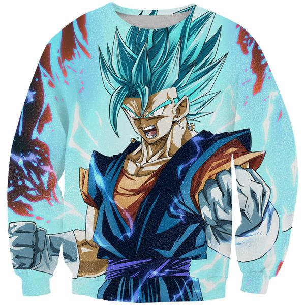 Super Saiyan Blue Vegito Sweatshirt - Dragon Ball Super Clothes - Hoodie Now