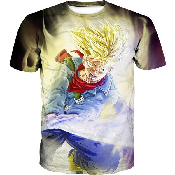 Super Saiyan Trunks Sword T-Shirt - Dragon Ball Super Trunks Clothing - Hoodie Now