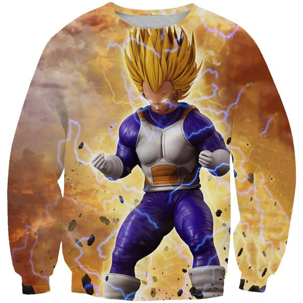 Super Saiyan Vegeta Sweatshirt - Dragon Ball Z Hoodies and Clothing