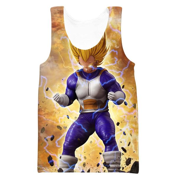 Super Saiyan Vegeta Tank Top - Dragon Ball Z Hoodies and Clothing