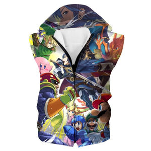 Super Smash Bros Hooded Tank - Video Game Clothing - Hoodie Now