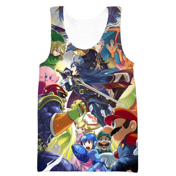 Super Smash Bros Tank Top - Video Game Clothing