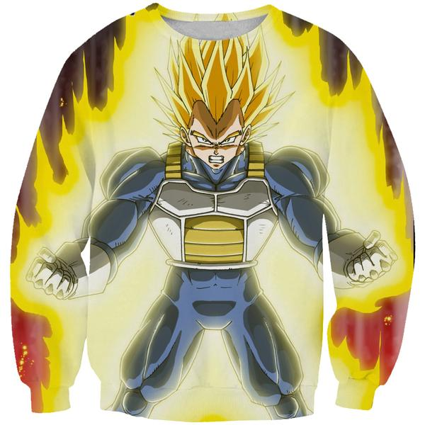 Super Vegeta Sweatshirt - Dragon Ball Z CLothing - DBZ Clothes