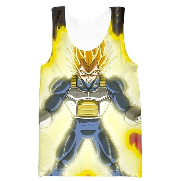 Super Vegeta Tank Top - Dragon Ball Z CLothing - DBZ Clothes