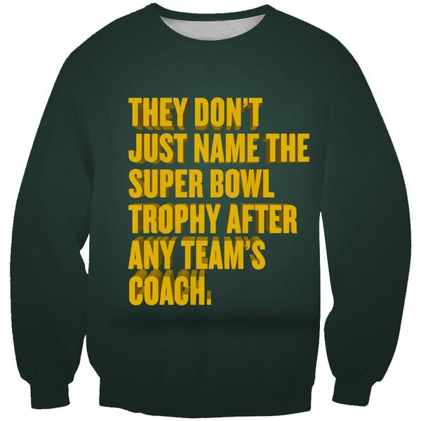 Superbowl Packers Trophy Sweatshirt - Funny Football Sweaters - Hoodie Now