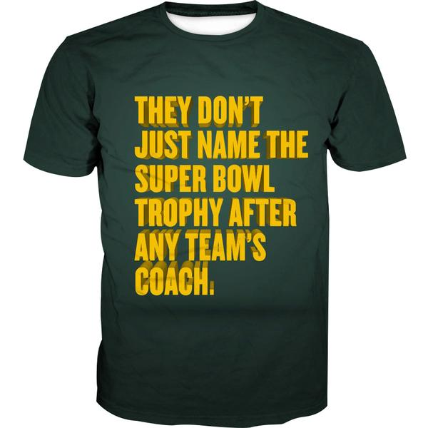 Superbowl Packers Trophy T-Shirt - Funny Football Shirts - Hoodie Now