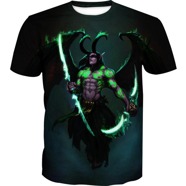Sword Illidan Clothing - World of Warcraft T-Shirt - Hoodie Now