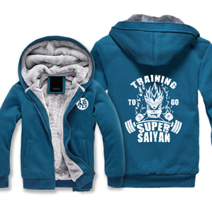 Vegeta Training To Go Super Saiyan Jacket - Dragon Ball Z Jackets Fleece - Hoodie Now