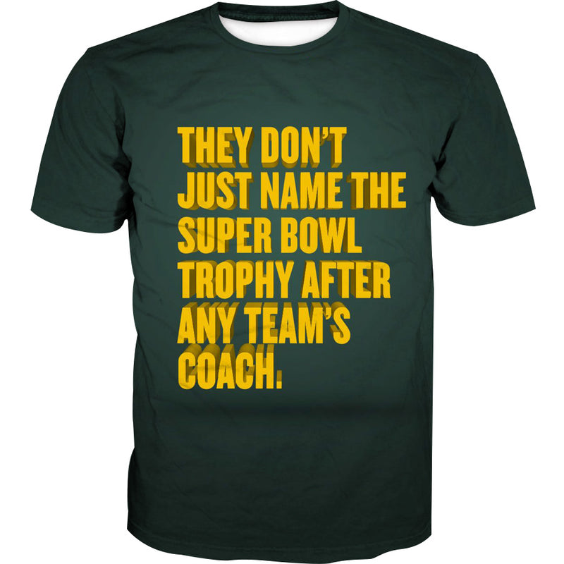 Superbowl Packers Trophy T-Shirt - Funny Football Shirts