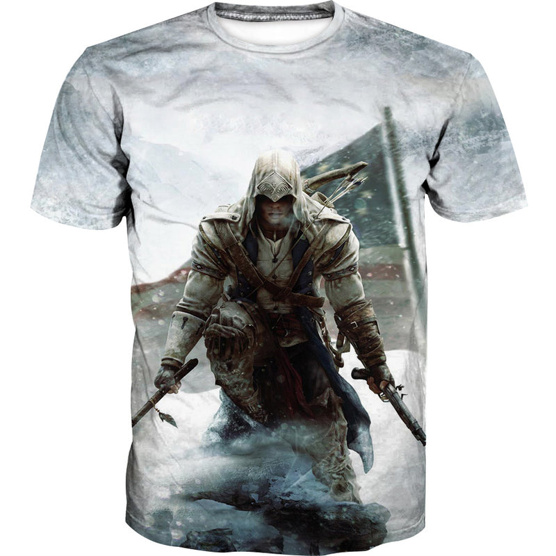 Assassins Creed American Flag T-Shirt - Assassin's Creed Odyssey Clothes