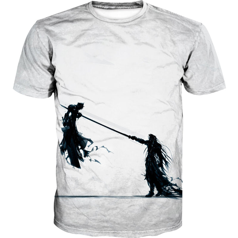 Final Fantasy 7 T-Shirt - Sephiroth vs Cloud Shirts - FF7 Clothes