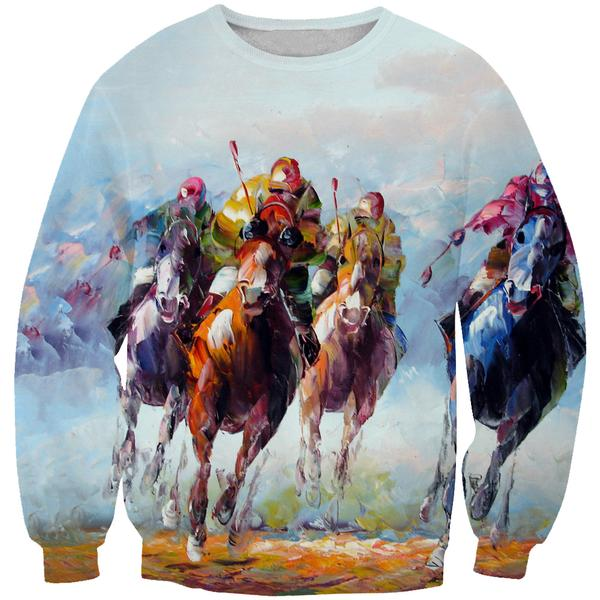 Thoroughbred Horse Sweatshirt - Triple Crown Clothing - Hoodie Now