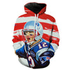 American Tom Brady Hoodie - Tom Brady Clothing - Football