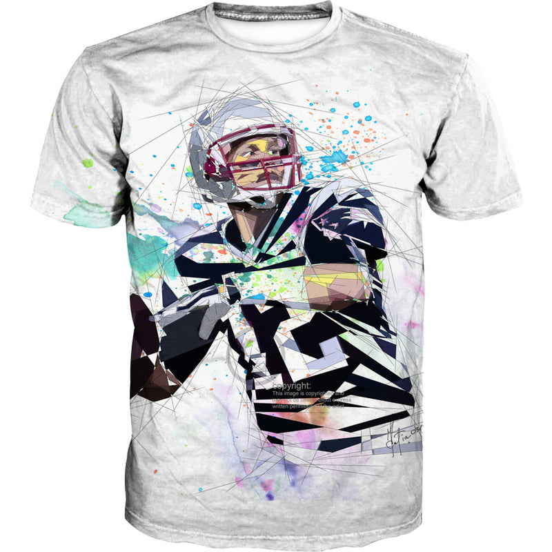 Tom Brady T-Shirt - White Tom Brady Clothing - Football