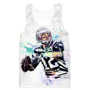 Tom Brady Tank Top - White Tom Brady Clothing - Football - Hoodie Now