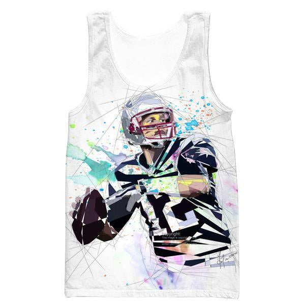 Tom Brady Tank Top - White Tom Brady Clothing - Football