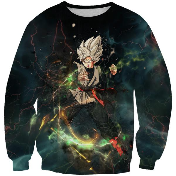 Ultra Instinct Goku Black Sweatshirt - Dragon Ball Super Clothes