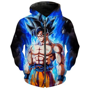 Ultra Instinct Goku Dragon Ball Super Zip Up Hoodie - DBZ Clothes - Hoodie Now