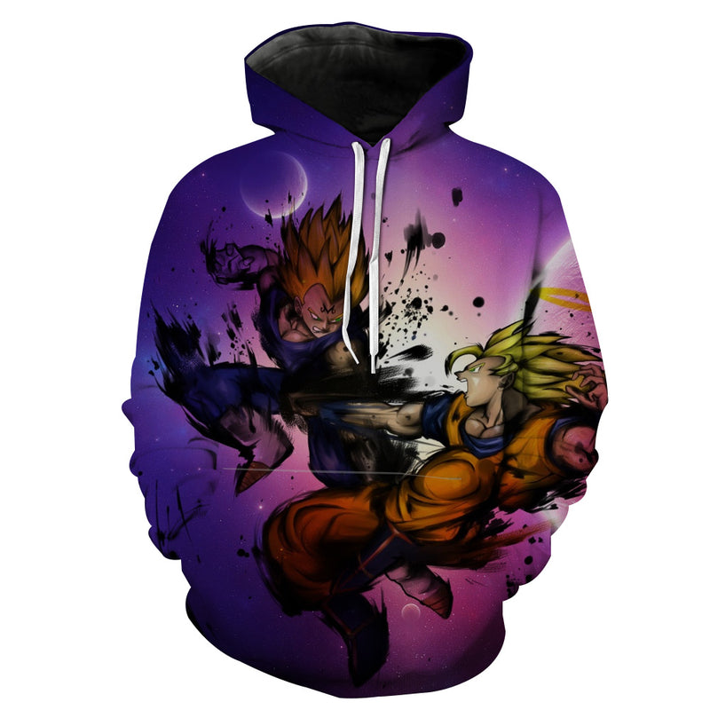SSJ Goku vs Majin Vegeta Hoodie - Dragon Ball Z Clothing