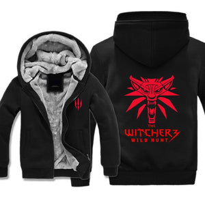 Witcher 3 Red Fleece Wolf Jacket