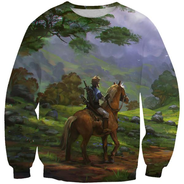 Zelda Horse Sweatshirt - Zelda Gaming Clothes - Hoodie Now