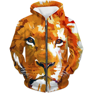 Lion Hoodie - Epic Animal Printed Lion Clothing - Hoodie Now
