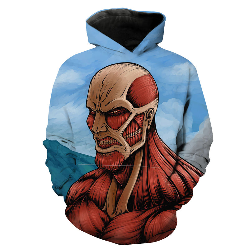 Attack on Titan Hoodie - Titan Face Hoodie - Anime Clothes