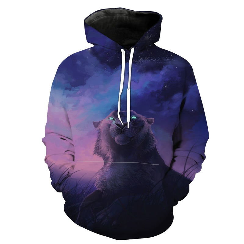 Galaxy Tiger Hoodie - Epic Space Tiger Clothes