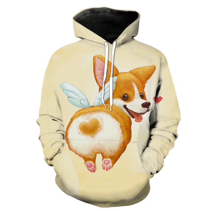 Cute Corgi Butt Hoodie - Funny and Cute Dog Clothes