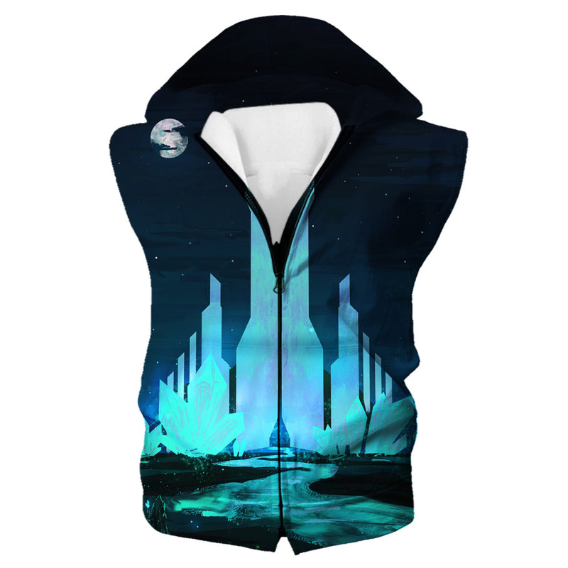 Crystal City Hooded Tank - Fantasy Hoodies and Clothing - Hoodie Now