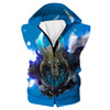 Blue Fortnite Ragnarok Skin Hooded Tank -Fortnite Battle Royale Clothing