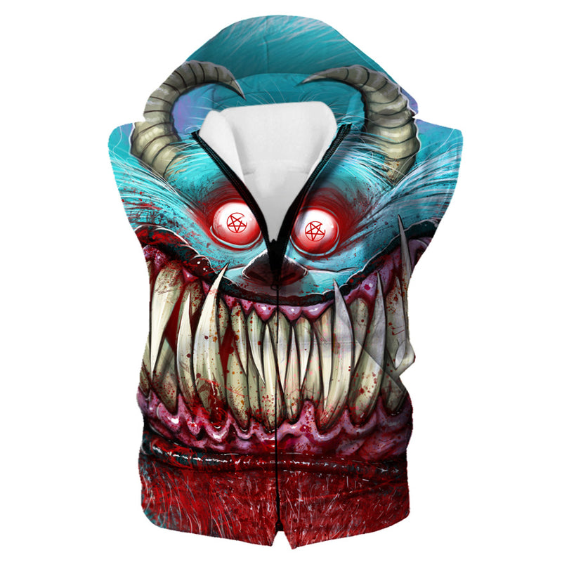Creepy Monster Inc Style Hooded Tank - Scary Monster Clothing - Hoodie Now