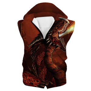Red Fire Dragon Tank Top - Fantasy Clothing - Hoodie Now