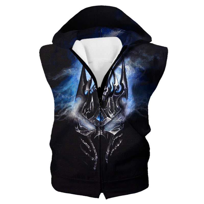 Lich King Arthas Clothes - World of Warcraft Hooded Tank - Hoodie Now