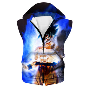 Ultra Instinct Goku Zip Up Hoodie - Dragon Ball Super Hoodies