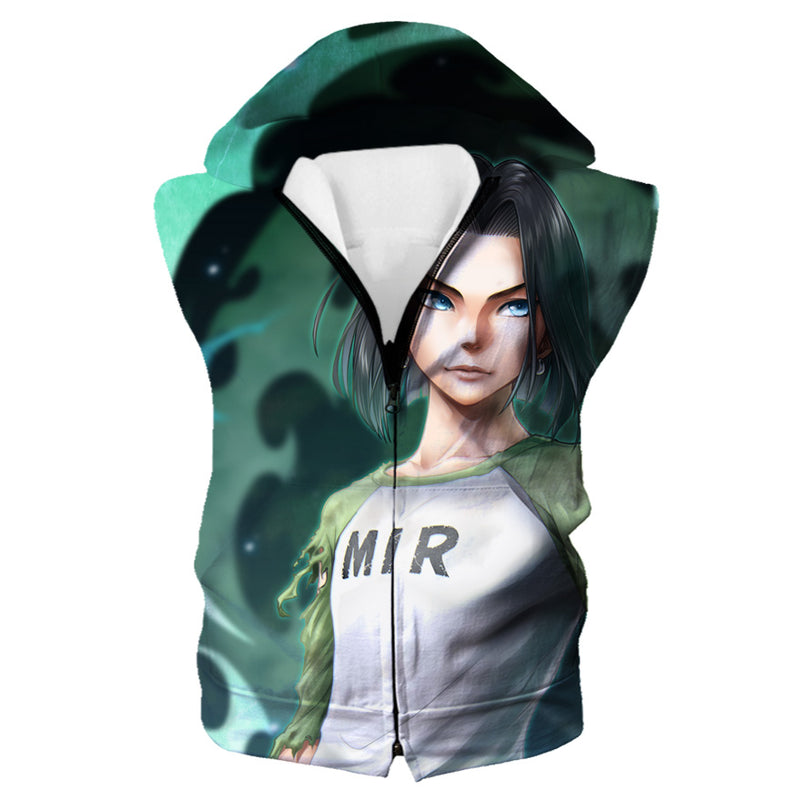 Android 17 Hooded Tank - Dragon Ball Super Android 17