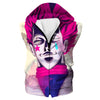 Creepy Hisoka Face Hooded Tank - Hunter x Hunter Clothes