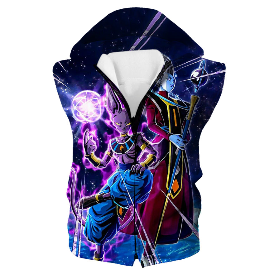 Beerus and Whis Hooded Tank - Dragon Ball Super Beerrus Clothes