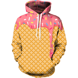 Ice Cream Dripping Hoodie - Funny Food Hoodies - Hoodie Now