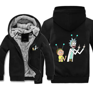Rick and Morty fleece hoodie