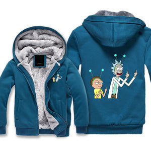 Middle Finger Rick and Morty Jacket - Rick and Morty Winter Clothing