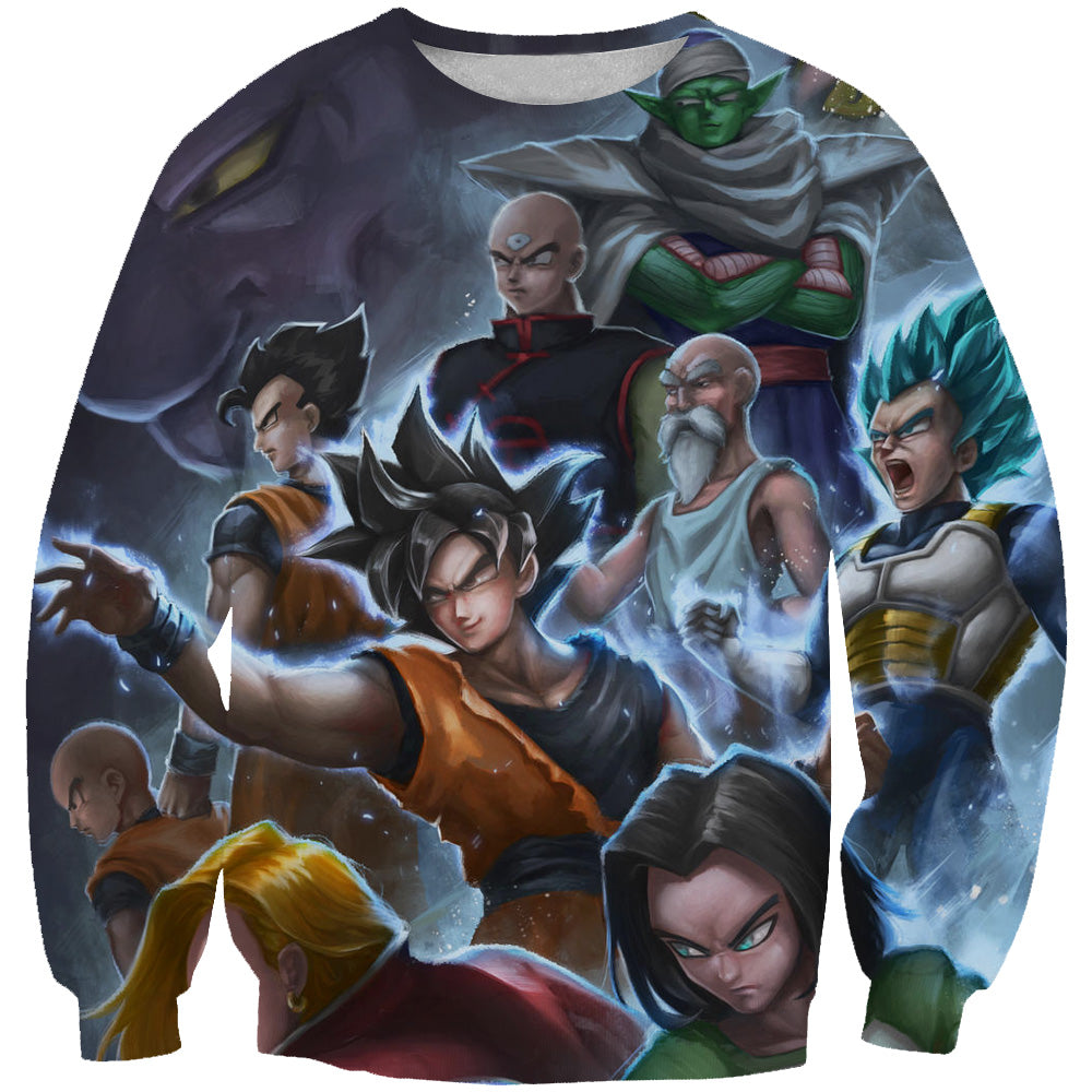 Dragon Ball All Characters Sweatshirt - Epic DBZ Clothes - Hoodie Now
