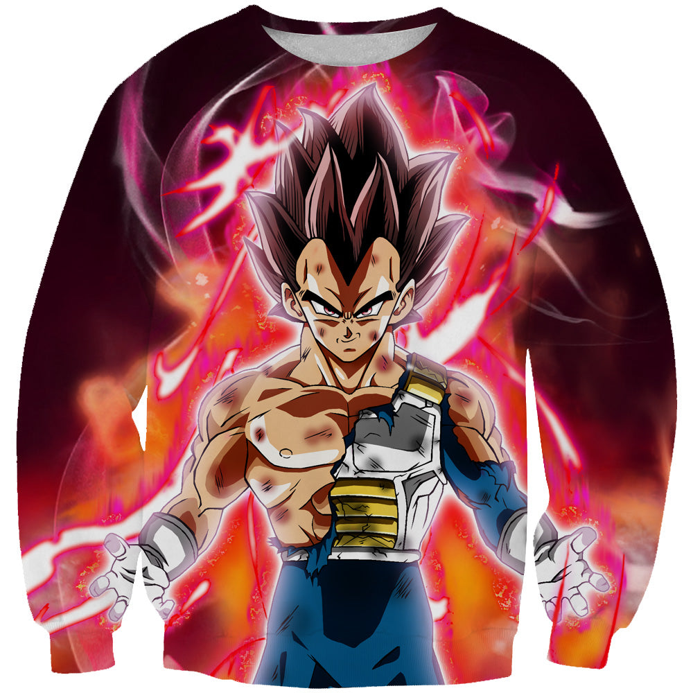 Ultra Instincts Vegeta Sweatshirt - Super Dragon Ball Clothes
